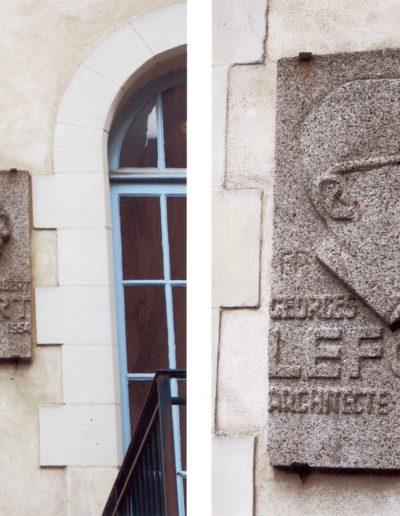 Robert Lefort, bas-relief, 1955, École des Beaux-Arts de Rennes, Rue Hoche