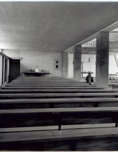 Side aisle with confessionals, Church of Saint Yves