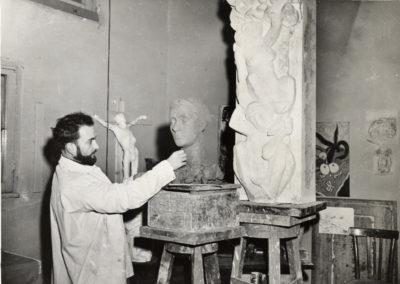 At work in the Villa Medici atelier