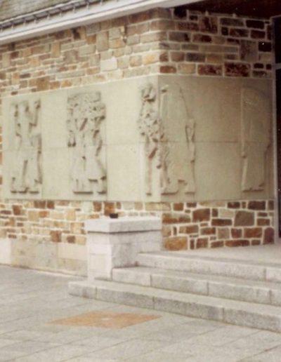Bas-relief, 1958, Mairie, Caudan