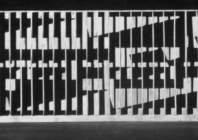 Openwork panel, maquette, 1984, CPAM building foyer, Rennes