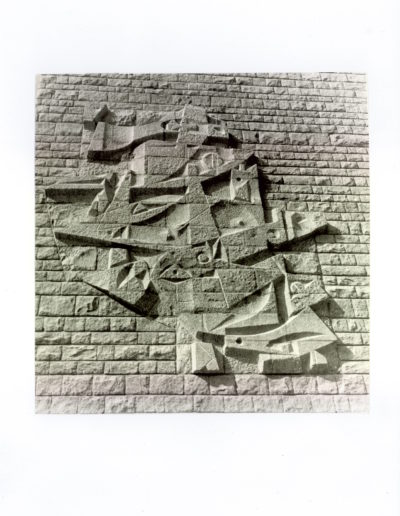 L'envol, mural, 1966, Collège d'Enseignement Technique, Mayenne