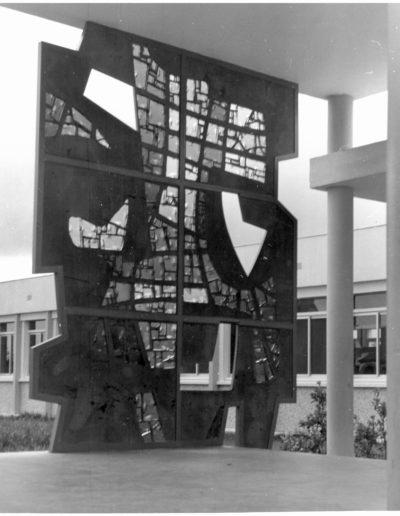 Stained-glass wall, 1968, Collège du Grand Clos, Saint-Brieuc