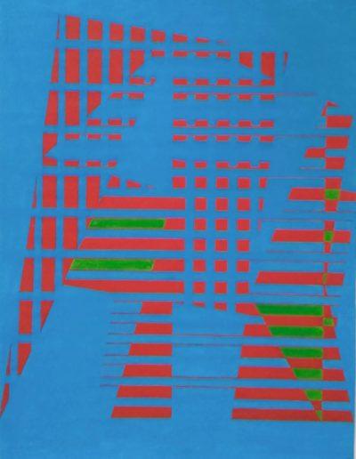 Gestural period, gouache on paper, 1962