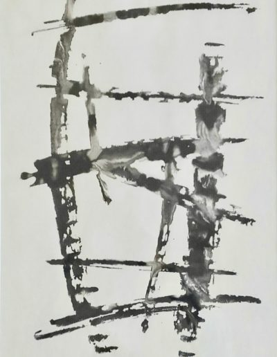 Gestural period, Indian ink and water, 1968