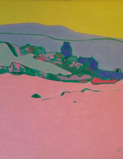 Aubrac, acrylic on canvas, 1977