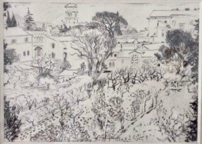 Le jardin de la Trinité-des-Monts, Rome