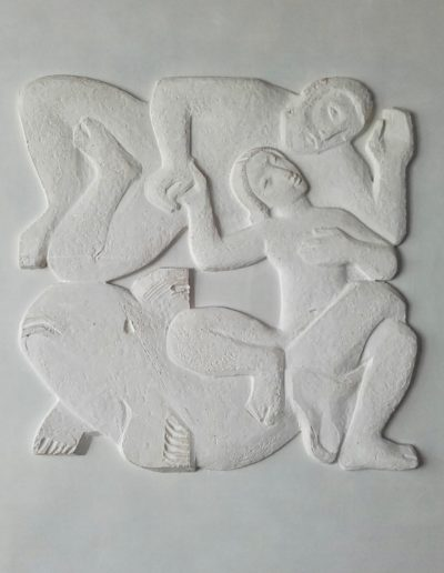 Maquette Plâtre Bas Relief Inscription Maritime 1950