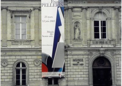 Affiche sur le fronton du Musée des Beaux Arts de Rennes - 2005