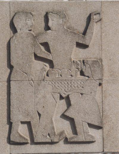 Mairie Caudan Bas Relief - 1958