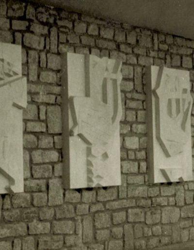 Vannes Lycee - 4 bas reliefs -1960