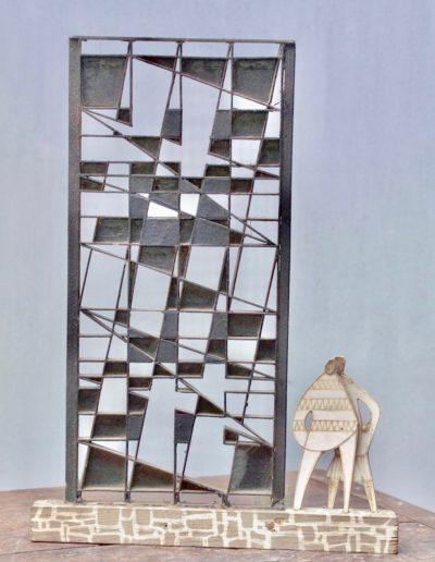 Maquette avec un grouillot - Pontivy College - 1964
