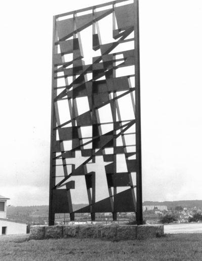 Pontivy College Enseigne Technique -Signal / Grille métal - 1964