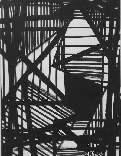 Période gestuelle - Encre de chine - 1961
