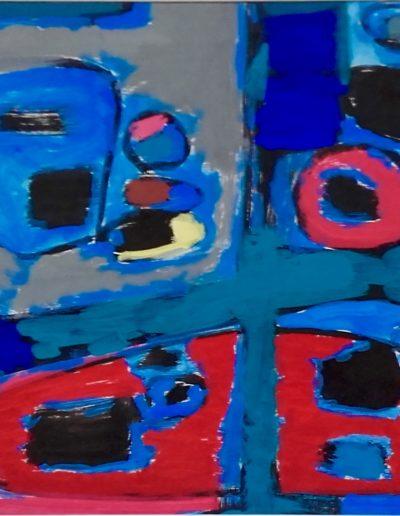 Période gestuelle – Encre de chine gouache sur papier – 1964
