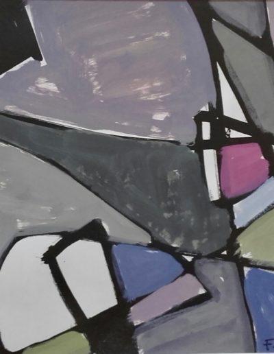 Période gestuelle - Encre de chine gouache sur papier - 1965