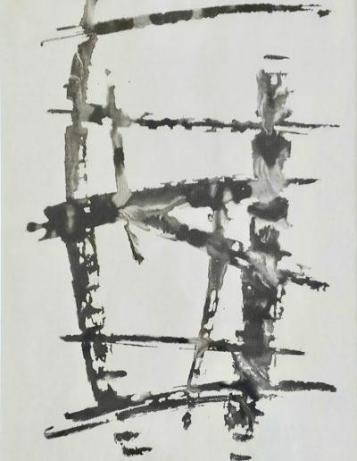 Période gestuelle - Encre de chine et eau - 1968