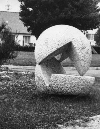 Collège Beaufeuillage - St Brieuc - Sculpture rond de bosse - 1973
