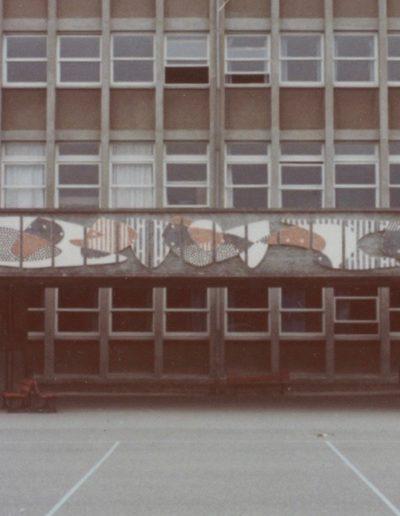 Lycee Pavie Guingamp - linteau en mosaïque - 1973