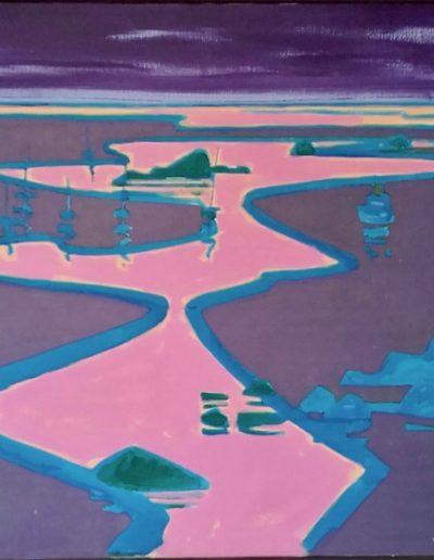 Bretagne Finistère - Acrylique sur toile - 1977