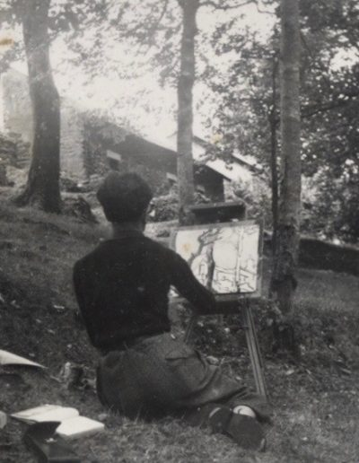 Francis PELLERIN peint à Cancale