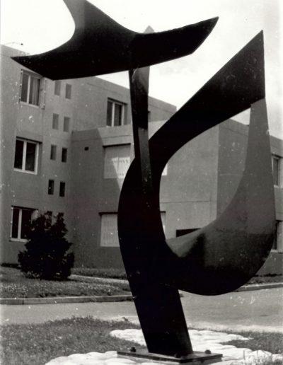 Collège Robert Surcouf - Structure métal noir - St Malo - 1974