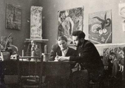 Le couple Pellerin à la Villa Medicis