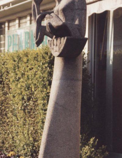 """Mairie de Taupont - Sculpture """"Retour de l'abondance"""" - 1956"""
